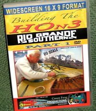 "20132 MODEL RAILROAD VIDEO DVD ""BUILDING THE HOn3 RGS"" PART-1 16x9"