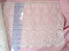 "10"" White Victorian Lace Border  X 5 Yards"