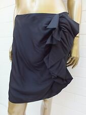 DESIGNER NICOLA FINETTI BLACK FRILL MINI Dress SKIRT 10 - 100 % SILK