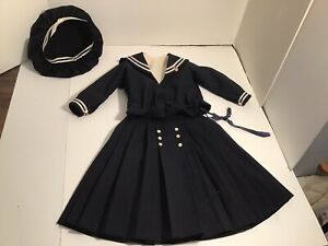 Beautiful Vintage Large 4-Piece Summer Wool Blend Nautical Doll Outfit