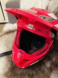 FOX MX Helmet (Red and White)