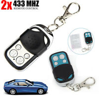 2pc Electric Gate Cloning Key Fob Remote Control for Car Garage Door 433.92 mhz