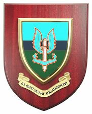 63 SAS SIGNAL SQN SPECIAL AIR SERVICE  HAND MADE IN THE UK REGIMENT MESS PLAQUE