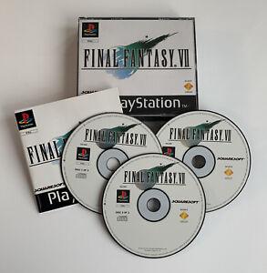 Final Fantasy VII PS1 Game Tested Complete Black Label Sony PlayStation PAL