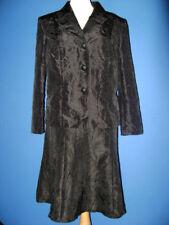 Tailleur noir en taffetas, veste et jupe, t.50/52, neuf