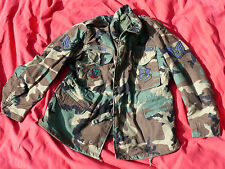 Desert Storm COLD WEATHER Camo FIELD JACKET VT Green Mountain Boys Airman E-5