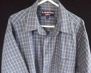 LANCIA Mens Casual Short Sleeve Checked Shirt Size M