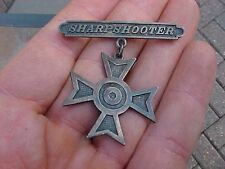 ORIGINAL WWI SHARPSHOOTER BADGE - RARE NAMED AND DATED BADGE