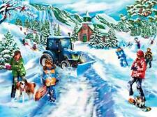 SUNSOUT JIGSAW PUZZLE CLEARING THE WAY MARY THOMPSON 1000 PCS #25331 NEW HOLLAND