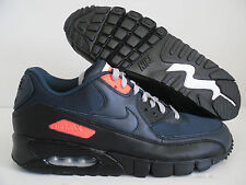 NIKE AIR MAX 90 CURRENT ID NAVY BLUE-ATOMIC RED SZ 11 [370101-993]