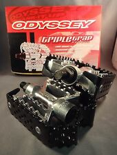 Odyssey Triple Trap Pedals Black Silver 9/16 for Racing Old Mid School BMX Bike