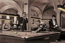 CHRIS CONSANI ~ GAME OF FATE 24x36 ART POSTER Marilyn Monroe Dean Elvis Pool
