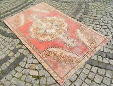 Vintage  Anatolian Turkish Low Pile  OUSHAK   Rug  50,7'' X 82,6''  Area  Rug