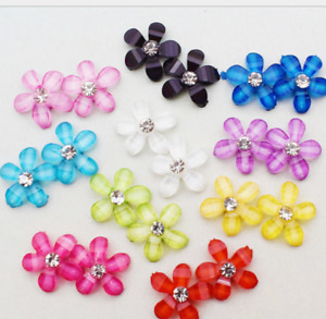 200pcs Resin Five Petal Flower paste Sticker Beads Material Jewelry Accessories