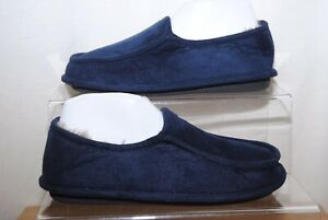 Next Mens Navy Blue Memory Foam Slippers Uk Size 7 Bnwt