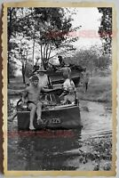 50s Vietnam SAIGON GROUP ARMY TOPLESS MEN GAY PATROL BOAT WAR Vintage Photo #784