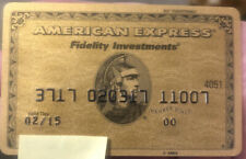 American Express AMEX Gold Fidelity Investments credit card member since 2000