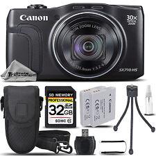 Canon PowerShot SX710 HS Digital Camera (Black) + CASE +EXT BATT +TRIPOD + 32GB