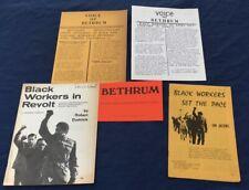 C1971 Black Workers Booklets & Newsletter Bethlehem Steel Vernon Ca Bethrum