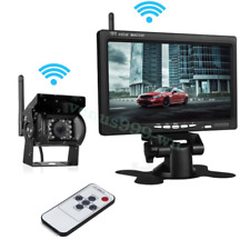 "New Wireless 7"" Monitor Reversing Camera Rear View Kit 12V 24V Truck,Caravan,Bus"