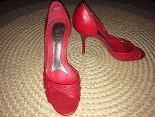 Siren Red High Heels EUC Sz 6