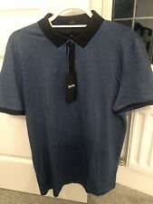 Hugo Boss Slim Fit Blue Stripe Polo- XL- New With Tags