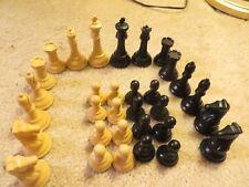 Vintage Allan Troy Chess-UNIQUE DRUEKE  #36 BUTTERSCOTCH SWIRL SET w/ cigar box!