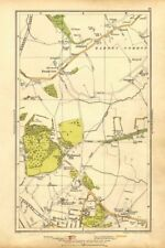 LONDON. Arkley, Barnet Gate, Highwood Hill, Mill Hill 1928 old vintage map