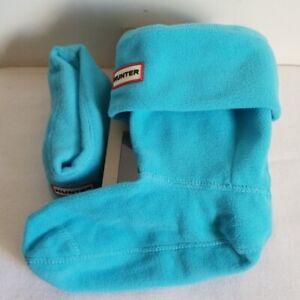 Hunter Blue Tiffany Original Short Boot Socks Fleece Size Large 8 9 10
