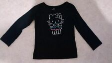Hello Kitty Black Long Sleeve sequins girls shirt size 2T RN17657