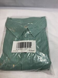 Scandia Woods Button Up Green Shirt New Men's Size XL Casual Short Sleeve Z2