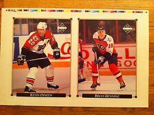 1992 Upper Deck uncut Card sheet Philadelphia Flyers KEVIN DINEEN Brian Benning
