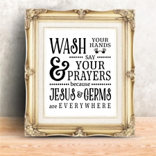Bathroom Wall Quotes Funny Kitchen Signs Art Print Farmhouse Decor Picture Gift