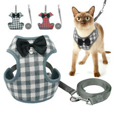 Cat Walking Harness and Lead Escape Proof Adjustable Puppy Dog Mesh Vest Clothes