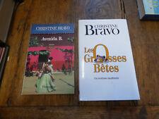Lot de 2 livres de Christine Bravo : Avenida B. -  les grosses bêtes