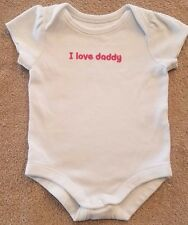 CLEARANCE! GYMBOREE 3-6 MONTH PINK I LOVE DADDY BODYSUIT