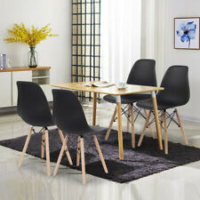 Set of 4 Dining Chairs Mid Century Modern Wooden Legs Kitchen Chairs Home Room