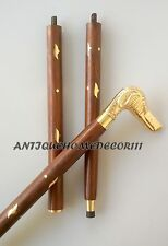 Vintage Nautical Designer Walking Stick Cane Dog Handle 36 Inch Long Gift item