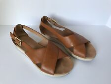 Tommy Bahama Relaxology Soft Soles Sandals Size 6 B Tan Leather Illucie Buckle