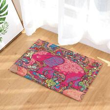 Pink elephant pattern bathroom Non-Slip Floor Outdoor Indoor Front Door Mat