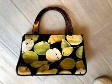 Occhio Women's Handbag PURSE APPLES PEARS Lucite Like handle