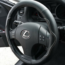 Steering Wheel Cover PVC leather Black Stitch Wave sz Medium slid in 571B2 New