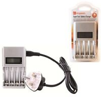 Kingavon 1 Hour Ultra Fast Battery Charger MAINS Rechargeable AA & AAA 9V BT125
