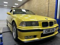 1996 BMW M3 E36 Cabriolet 3.2 Manual 6 Speed *Dakar yellow* 1Year MOT