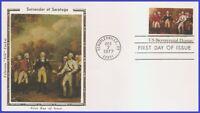 USA5 #1728 U/A COLORANO SILK FDC   Surrender at Saratoga