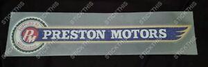 Holden Dealership Dealer Decal Sticker - Preston Motors - Melbourne
