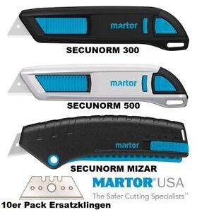 MARTOR Sicherheitsmesser Arbeitsmesser SECUNORM 300 500 / MIZAR / Ersatzklingen