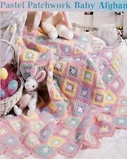Pretty Pastel Patchwork Baby Afghan/Crochet Pattern Instructions Only