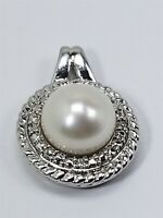 Women's Sterling Silver 925 Charm with White Pearl Free Shipping! #80179