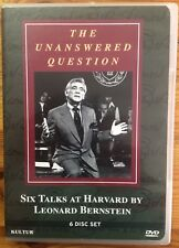 The Unanswered Question: 6 Talks at Harvard by Leonard Bernstein (ONLY 5 DVDS)